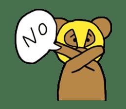 Bear & Rabbit wrestler sticker #3074354