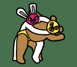 Bear & Rabbit wrestler sticker #3074355