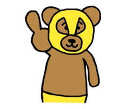 Bear & Rabbit wrestler sticker #3074357