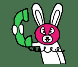 Bear & Rabbit wrestler sticker #3074361