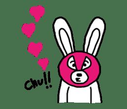 Bear & Rabbit wrestler sticker #3074363