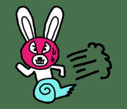 Bear & Rabbit wrestler sticker #3074364