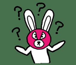 Bear & Rabbit wrestler sticker #3074365