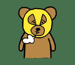 Bear & Rabbit wrestler sticker #3074373