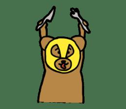 Bear & Rabbit wrestler sticker #3074375