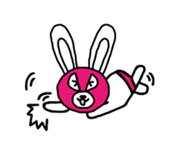 Bear & Rabbit wrestler sticker #3074377