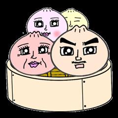 """a steamed meat bun"" family."