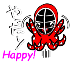 Octopus swordsman 3 ~After the battle~ sticker #3094393