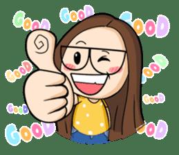 TuaGom :a little cute girl sticker #3116560
