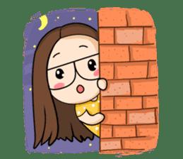 TuaGom :a little cute girl sticker #3116580
