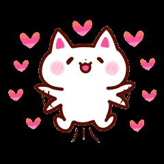 LOVE LOVE Cat Sticker