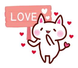 LOVE LOVE Cat Sticker sticker #3117918