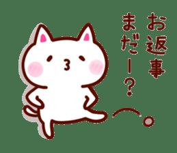 LOVE LOVE Cat Sticker sticker #3117935