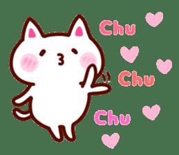 LOVE LOVE Cat Sticker sticker #3117943