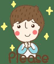 Friday a little boy sticker #3123030