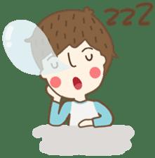 Friday a little boy sticker #3123033