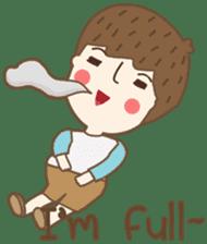Friday a little boy sticker #3123043