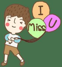 Friday a little boy sticker #3123044