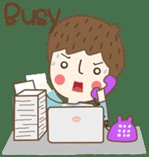 Friday a little boy sticker #3123045