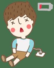 Friday a little boy sticker #3123059