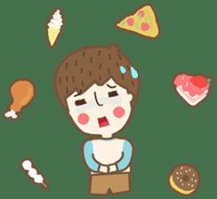 Friday a little boy sticker #3123063