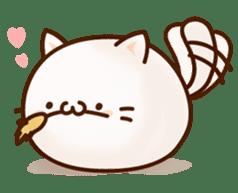 Sticker of a round and pretty cat sticker #3130149