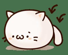 Sticker of a round and pretty cat sticker #3130151