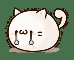 Sticker of a round and pretty cat sticker #3130153