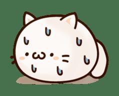 Sticker of a round and pretty cat sticker #3130155