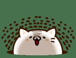 Sticker of a round and pretty cat sticker #3130162