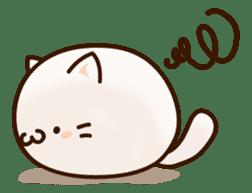 Sticker of a round and pretty cat sticker #3130164