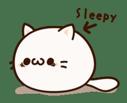 Sticker of a round and pretty cat sticker #3130165