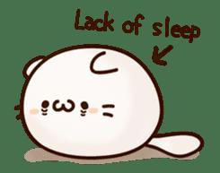 Sticker of a round and pretty cat sticker #3130166