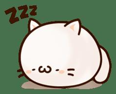 Sticker of a round and pretty cat sticker #3130167