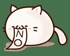 Sticker of a round and pretty cat sticker #3130172