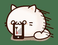Sticker of a round and pretty cat sticker #3130173