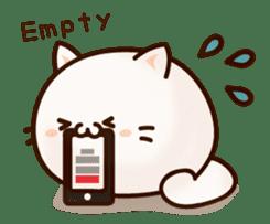 Sticker of a round and pretty cat sticker #3130174