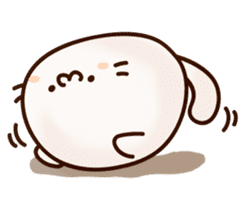 Sticker of a round and pretty cat sticker #3130175