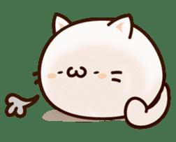 Sticker of a round and pretty cat sticker #3130176