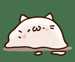 Sticker of a round and pretty cat sticker #3130178
