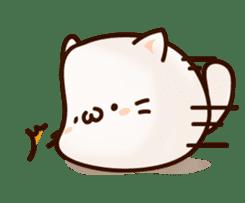 Sticker of a round and pretty cat sticker #3130180