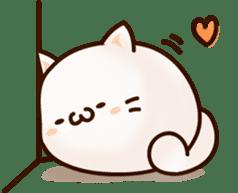 Sticker of a round and pretty cat sticker #3130181