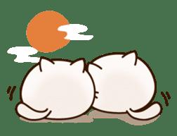 Sticker of a round and pretty cat sticker #3130183
