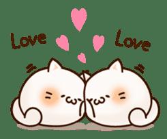 Sticker of a round and pretty cat sticker #3130184