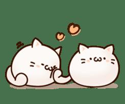 Sticker of a round and pretty cat sticker #3130185