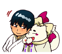 Gingitsune Makoto and friends version sticker #3138462