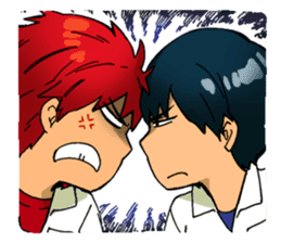 Gingitsune Makoto and friends version sticker #3138468