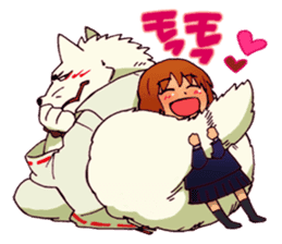 Gingitsune Makoto and friends version sticker #3138469