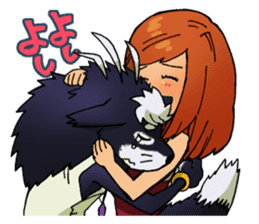 Gingitsune Makoto and friends version sticker #3138471