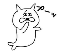 Seal and Cat sticker #3142766